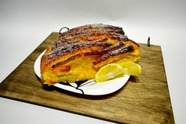 Пирог «Гармошка» с апельсиново-лимонной начинкой